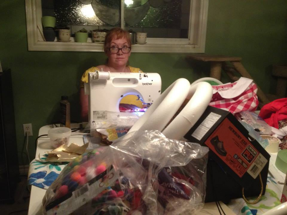 Denise sewing