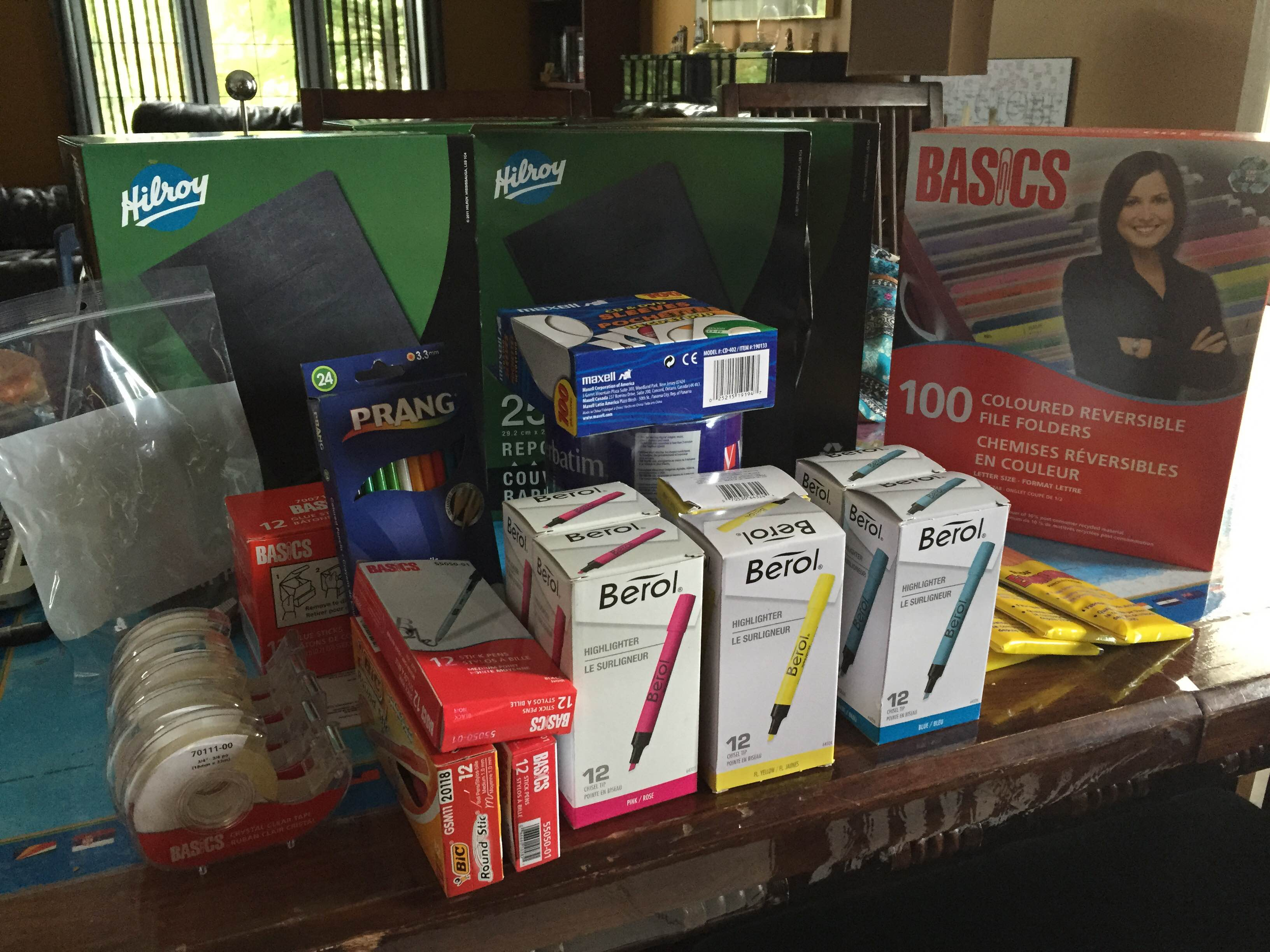 Our 2015-2016 supplies!