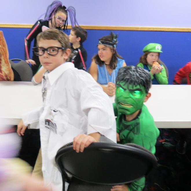 Bruce Banner and the Hulk - the combined Best Costume for the Junior category